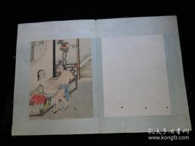 清代手绘 春画两幅