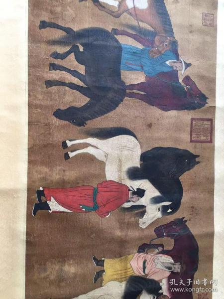 韩干(约706年-783年),唐代画家,以画马著称,蓝田(今陕西蓝田)人。