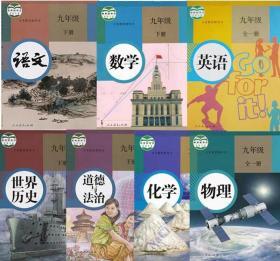 二手正版初中9九年级下册课本全套人教版教材初三下册