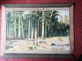 风景老油画