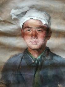 油画人物 陕北少年