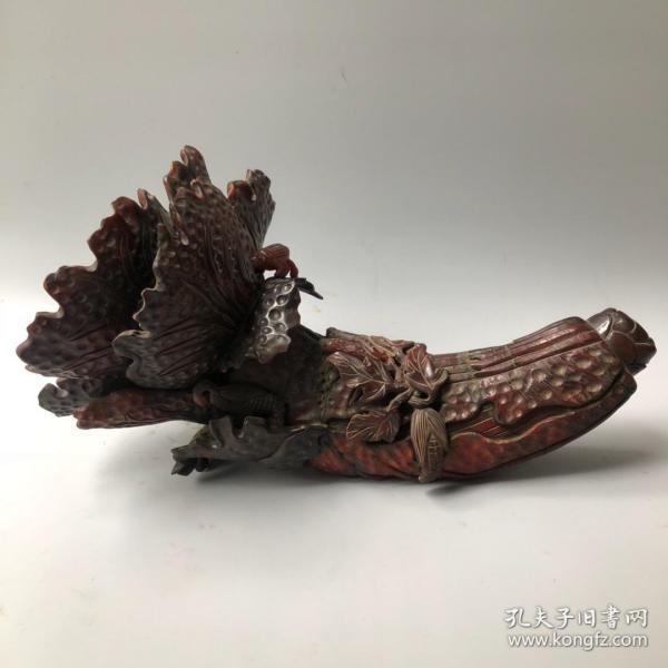 牛角白菜(百财)摆件长33厘米,宽18厘米重1820克