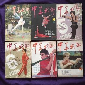 中华武术 1985 年(1、4、5、6、8、11、)六册合售