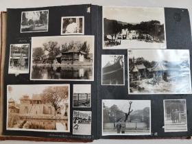 民国相册一本,共70多张原版老照片:上世纪三十年代日本人在中国拍摄的相册,包含十多张山东济南大明湖的清晰照片,十分难得