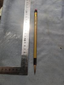 70年代库存上下牛角镶紫柏毛笔。