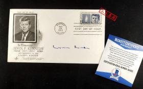 """""""华沙之跪"""" 西德总理 维利·勃兰特 签名1964年首日封 由三大签名鉴定公司之一Beckett(BAS)鉴定"""