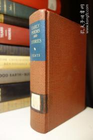 1925年版 叶芝早期诗与故事集 Early Poems and Stories