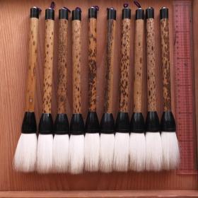 日本传统工艺精选毛笔10根羊毫毛笔N841