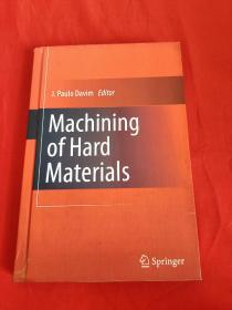 Machining of Hard Materials    (小16开,硬精装)  【详见图】