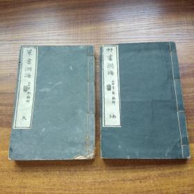 低价出售     和刻本  《草书渊海》天地两厚册全      日本书道    草书字典        木刻板书法文献     明治庚辰年(1880年)