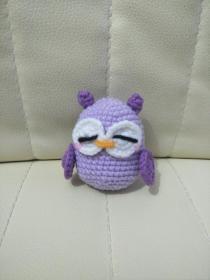 钩针玩偶成品 可爱的猫头鹰