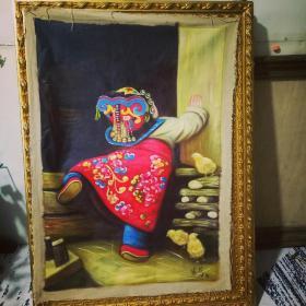 姜国芳油画一童年