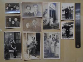 老照片【50—60年代,香港富裕人家照片,10张】弘法精舍大门,穿旗袍的太太