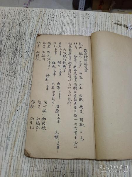 手抄中医书  跌打药方 (100面)