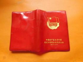老日记本;中国共产主义青年团 黑龙江省第五次代表大会  有多幅彩图