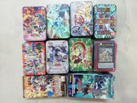 游戏王卡片10盒 (多闪卡-还有很多边上有小闪点的 )