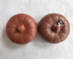 方圆牌紫砂、一对,早期出口创汇紫砂 老紫砂、尺寸8x6cm、方圆牌