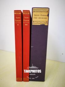 The Memoirs of Duc de Saint-Simon 《圣西门公爵 路易十四 宫廷秘闻回忆录》 limited edition club 1959 年 布面精装版 全两卷 Pierre Brissaud手工上色插图并签名 限量1500套,本套编号 8