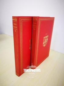 The Memoirs of Duc de Saint-Simon 《圣西门公爵 路易十四 宫廷秘闻回忆录》 limited edition club 1959 年出版 布面精装版 全两卷 Pierre Brissaud手工上色插图并签名 限量1500套,本套编号 642