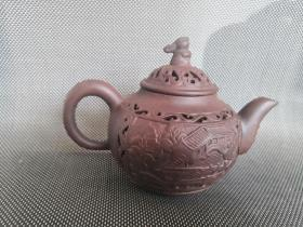 盛记镂空紫砂壶