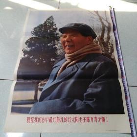 2开宣传画 敬祝我们心中最红最红的红太阳毛主席万寿无疆 河北人民美术出版社