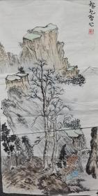 武汉大学教授刘刚纪山水精品4张打包2