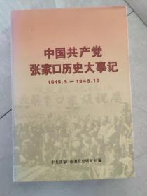 中国共产党张家口历史大事记(1919-1949)
