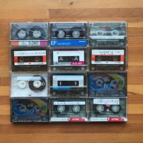 磁带156: 空白磁带12盒打包合售