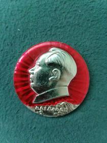 文革时期(石首)敬祝毛主席万寿无疆《像章》