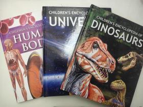 HUMAN BODY+UNIVERSE+DINOSAURS 人体+宇宙太空+恐龙百科全书 三本打包 英文版 精装全彩页 儿童科普知识阅读 英语学习