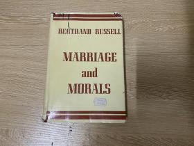 (私藏)Marriage and Morals   罗素《婚姻与道德》英文原版,凭此获诺贝尔文学奖,董桥:妙笔生花,文章又脆又有风格,无一冗笔。 1957年老版书,布面精装