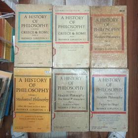 哲学史A History of Philosophy(volume I(part I+II)+volume 2+volume 5(part I+II)+volume 6+volume 7共7册合售)(V182)