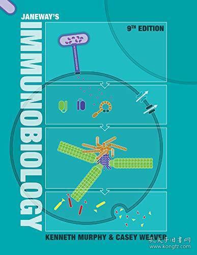 现货  Janeways Immunobiology 英文原版 免疫生物学 詹韦  Charles A. Janeway