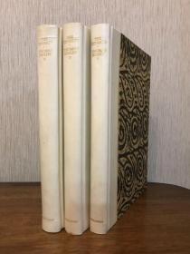 1927年哈代Thomas Hardy签名本 珍贵文豪签名本 三卷本史诗巨著拿破仑战争《列王The Dynasts》限量大开本