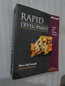 Rapid Development: Taming Wild Software Schedules 英文原版 正版现货