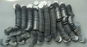 带光好品国徽菊花一角硬币铝1角批量每个0.6元