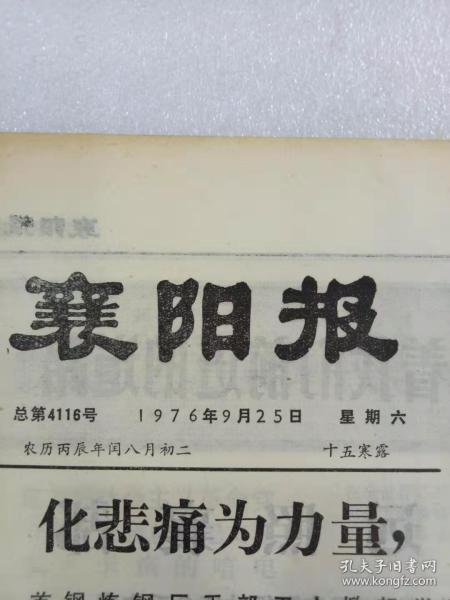 (襄陽報)總第4116號