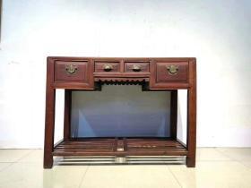 清代,蘇做櫸木制,文房案桌賬桌,可做電腦桌或書桌辦公桌品相一流,完整包老。可正常使用尺寸114*57*84厘米高