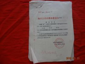 (文革歷史資料原始件)海西自治州革命委員會 西革字(69)第008號等