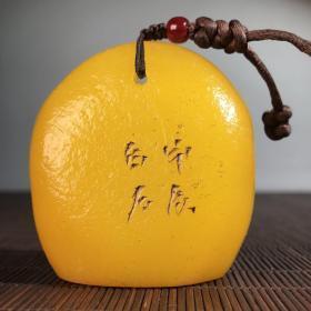 田黄原石原皮手工雕印章 石质温润 橘皮细腻 雕工精细 古朴素雅 品相如图
