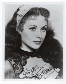 """最美科学家 """"wifi之母"""" 好莱坞传奇女星 海蒂·拉玛(Hedy Lamarr)亲笔签名照 JSA鉴定"""