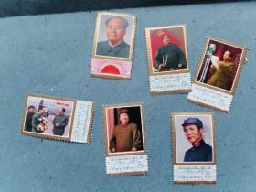 J21 伟大的领袖和导师毛泽东主席逝世一周年。6张全套票