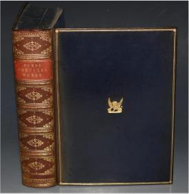 1880 Poetical Works of Robert Burns 《彭斯诗全集》全小牛皮烫金豪华善本 增补精美插图 品相上佳