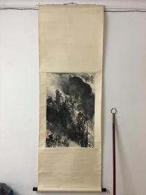 海派名家-苏州人-徐怀玉-山水精品《蜀江烟雨图》