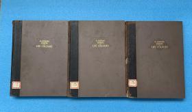 昭和8年(1933年初版)鸟类原色大图说(全三卷)(日文原版)8开 精装 铜板彩印 重7公斤(原为非卖品,印量极少)