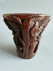 古董杂项摆件清代雕刻杯子