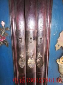古董古玩明清家具紫檀镶嵌玉石顶箱柜
