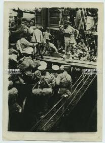 民国早期二十年代左右增援的张作霖东北军士兵老照片,18X12.9厘米