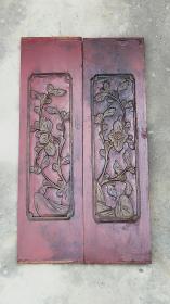 民国漆器雕花板古董木雕建筑手工浮雕家具屏风壁画装饰摆件