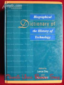 Biographical Dictionary of the History of Technology(英语原版 精装本)技术史传记词典